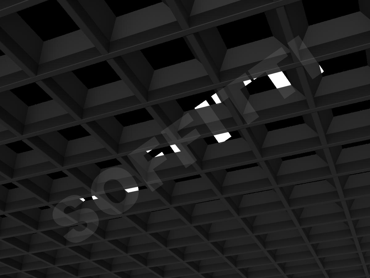 Грильято пирамидальное 120x120 мм h42,5 черный