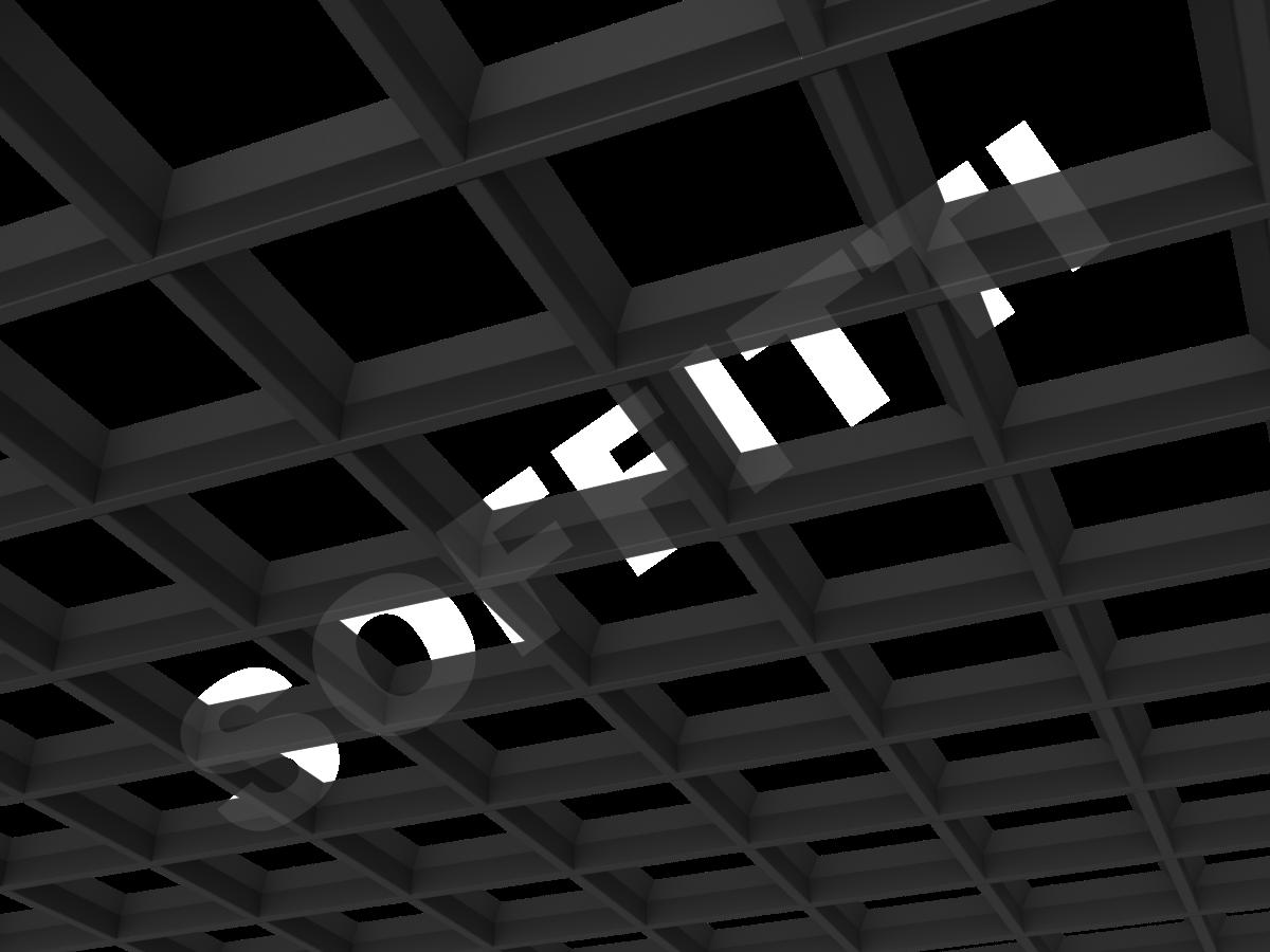 Грильято пирамидальное 150x150 мм h35 черный