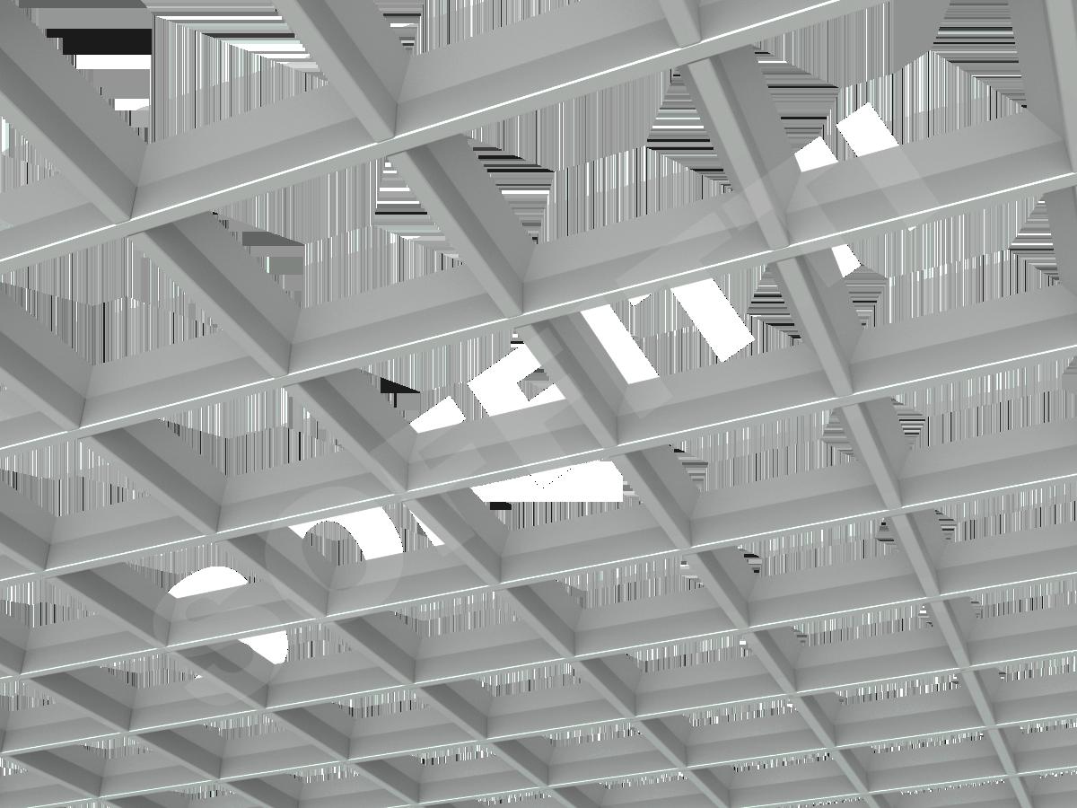 Потолок Грильято пирамидальное 150x150 мм серый