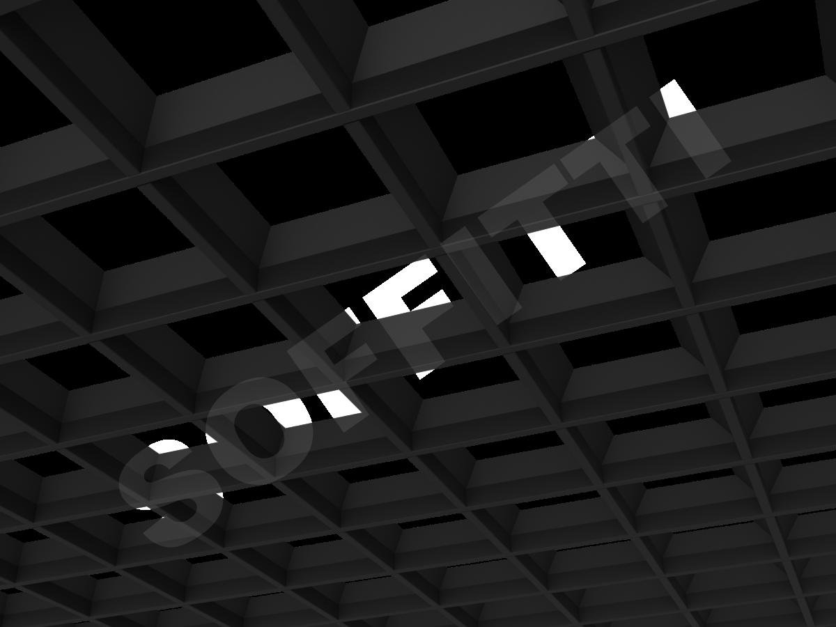 Грильято пирамидальное 150x150 мм h42,5 черный