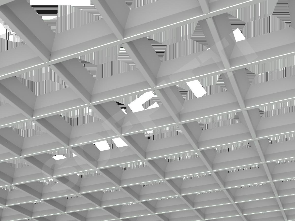 Грильято пирамидальное 150x150 мм h42,5 серый