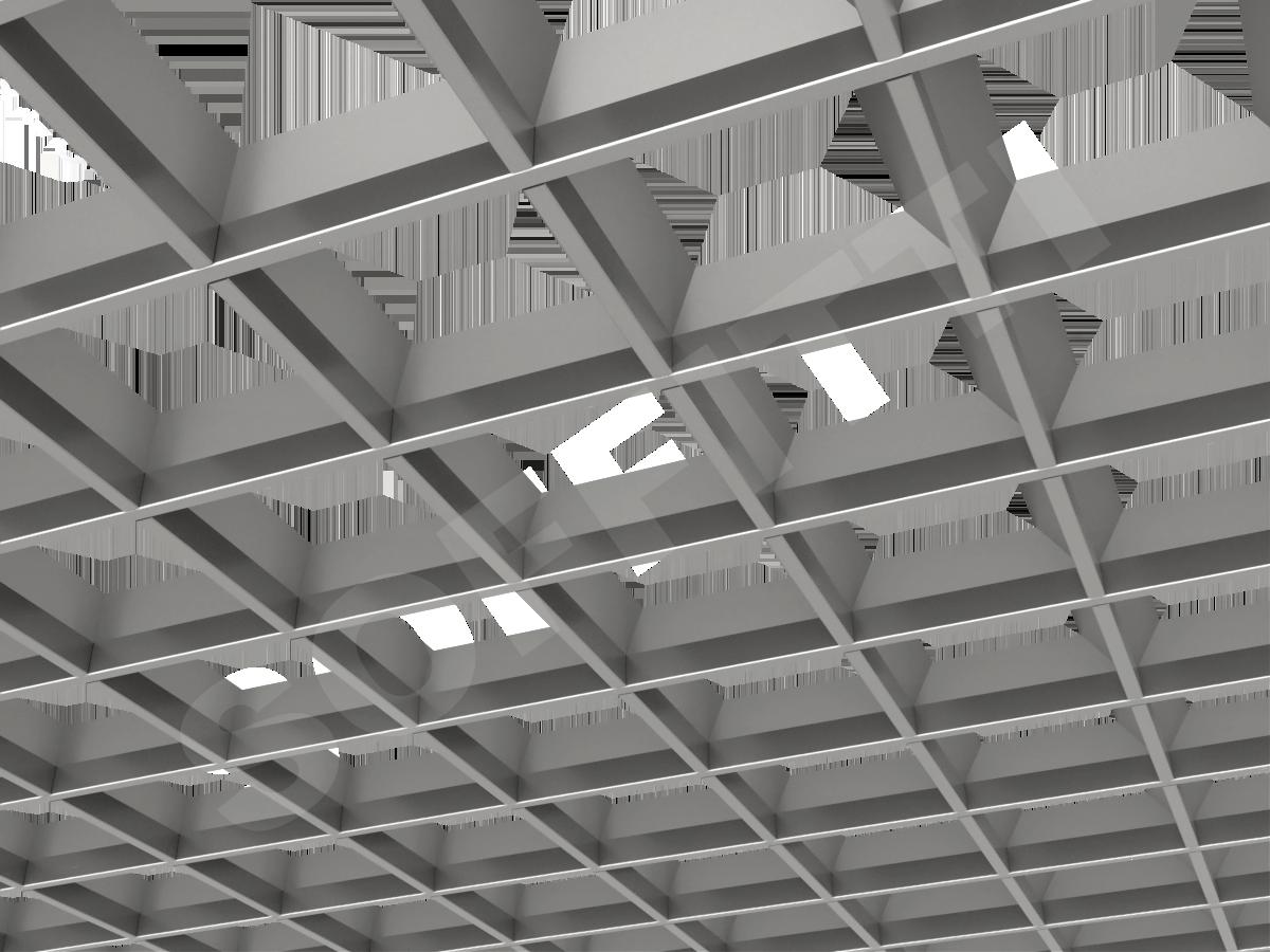 Грильято пирамидальное 150x150 мм h42,5 серебристый