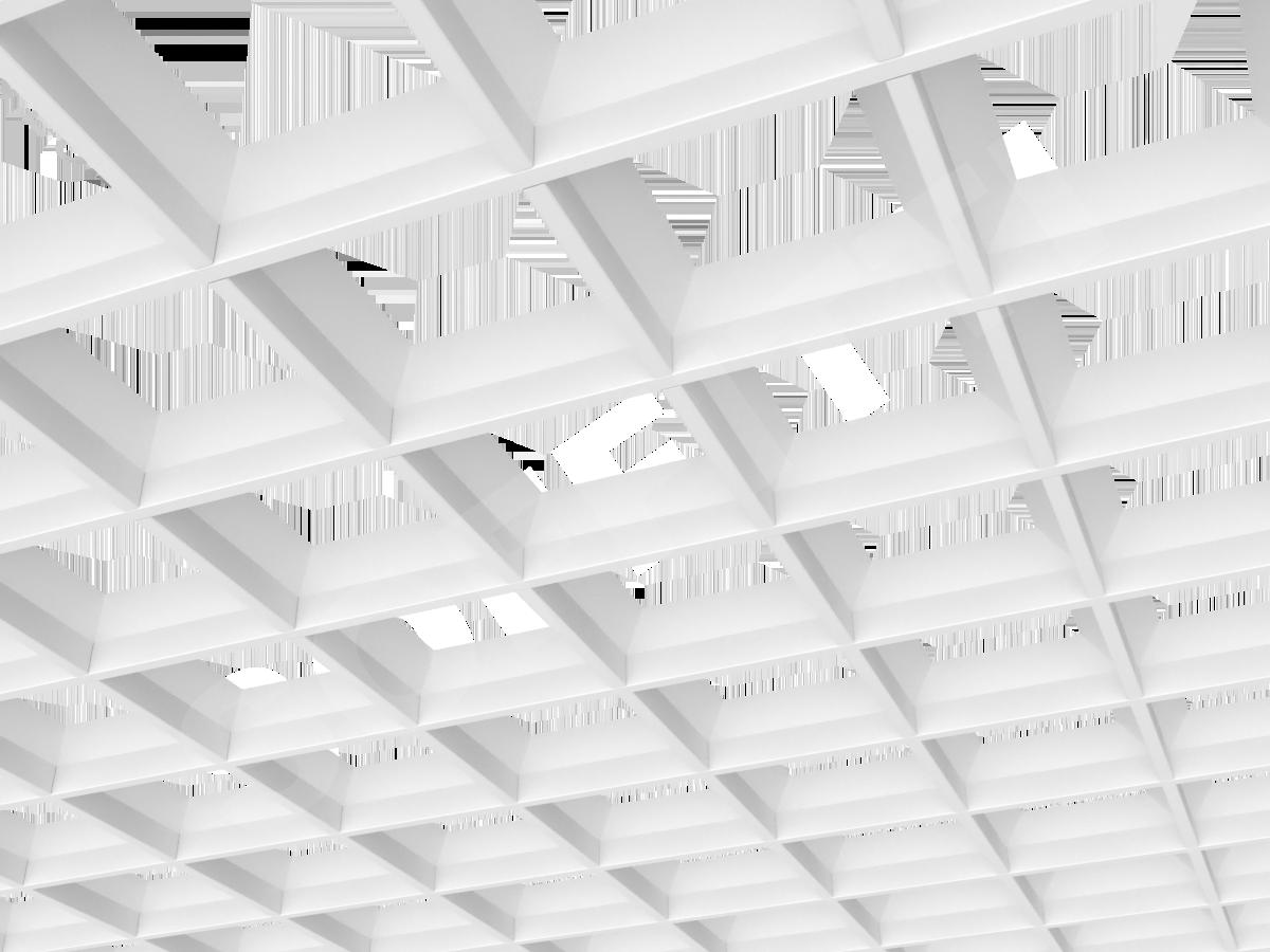 Грильято пирамидальное 150x150 мм h42,5 белый