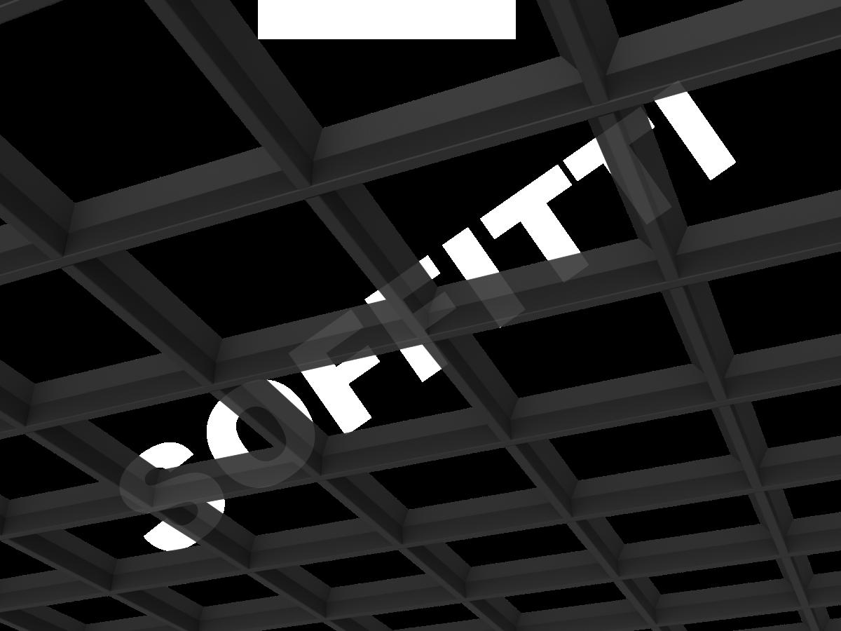Потолок Грильято пирамидальное 200x200 мм черный
