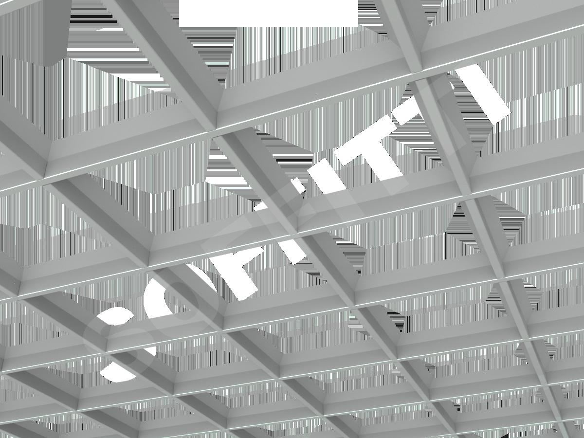 Потолок Грильято пирамидальное 200x200 мм серый