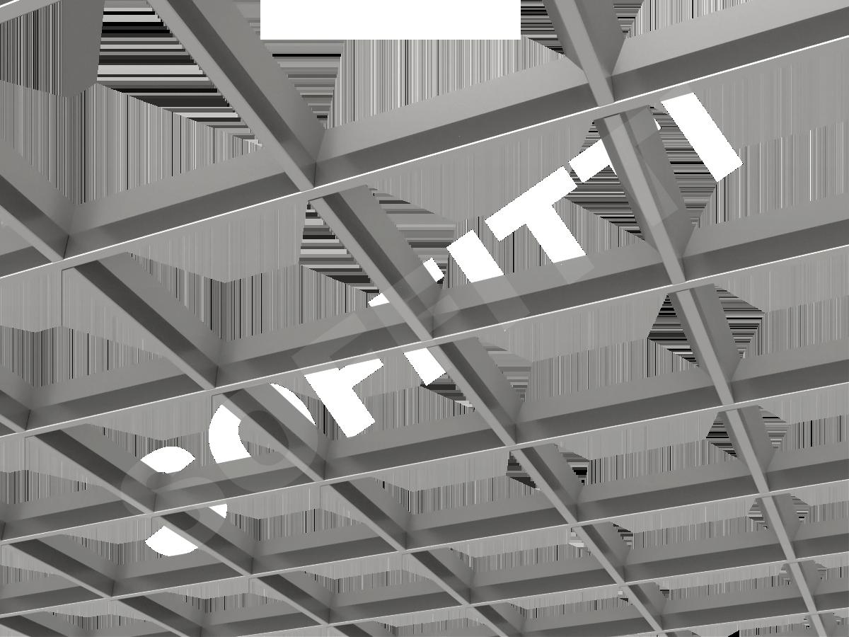 Грильято пирамидальное 200x200 мм h35 серебристый