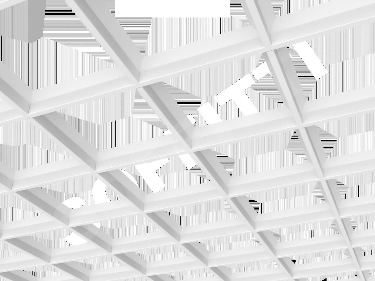 Грильято пирамидальное 200x200 мм h35 белый