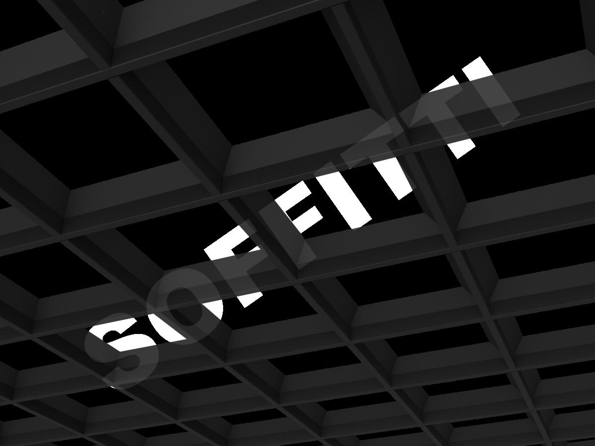 Грильято пирамидальное 200x200 мм h42,5 черный