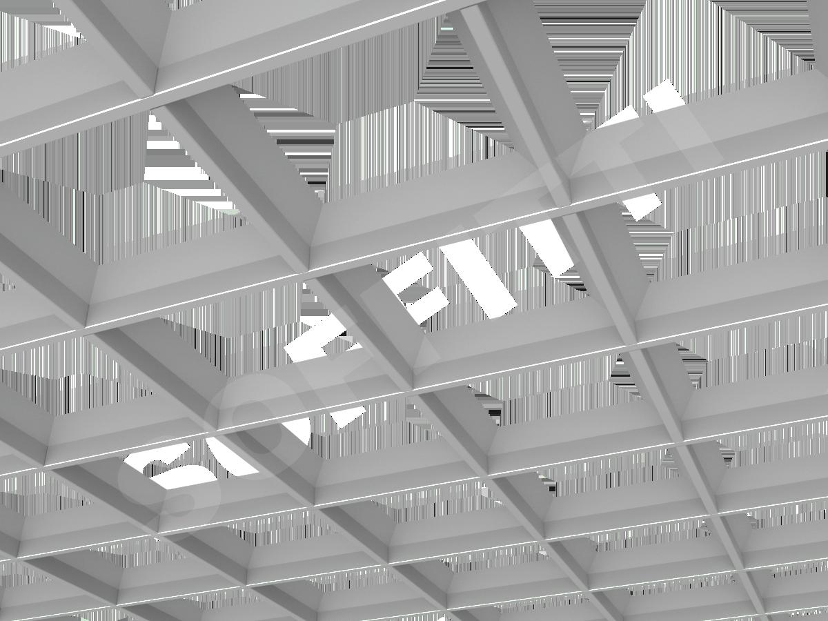 Грильято пирамидальное 200x200 мм h42,5 серый