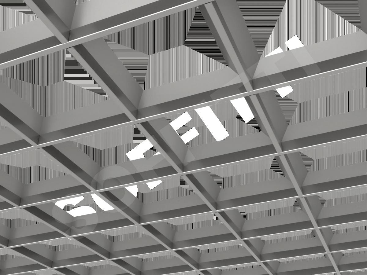 Грильято пирамидальное 200x200 мм h42,5 серебристый