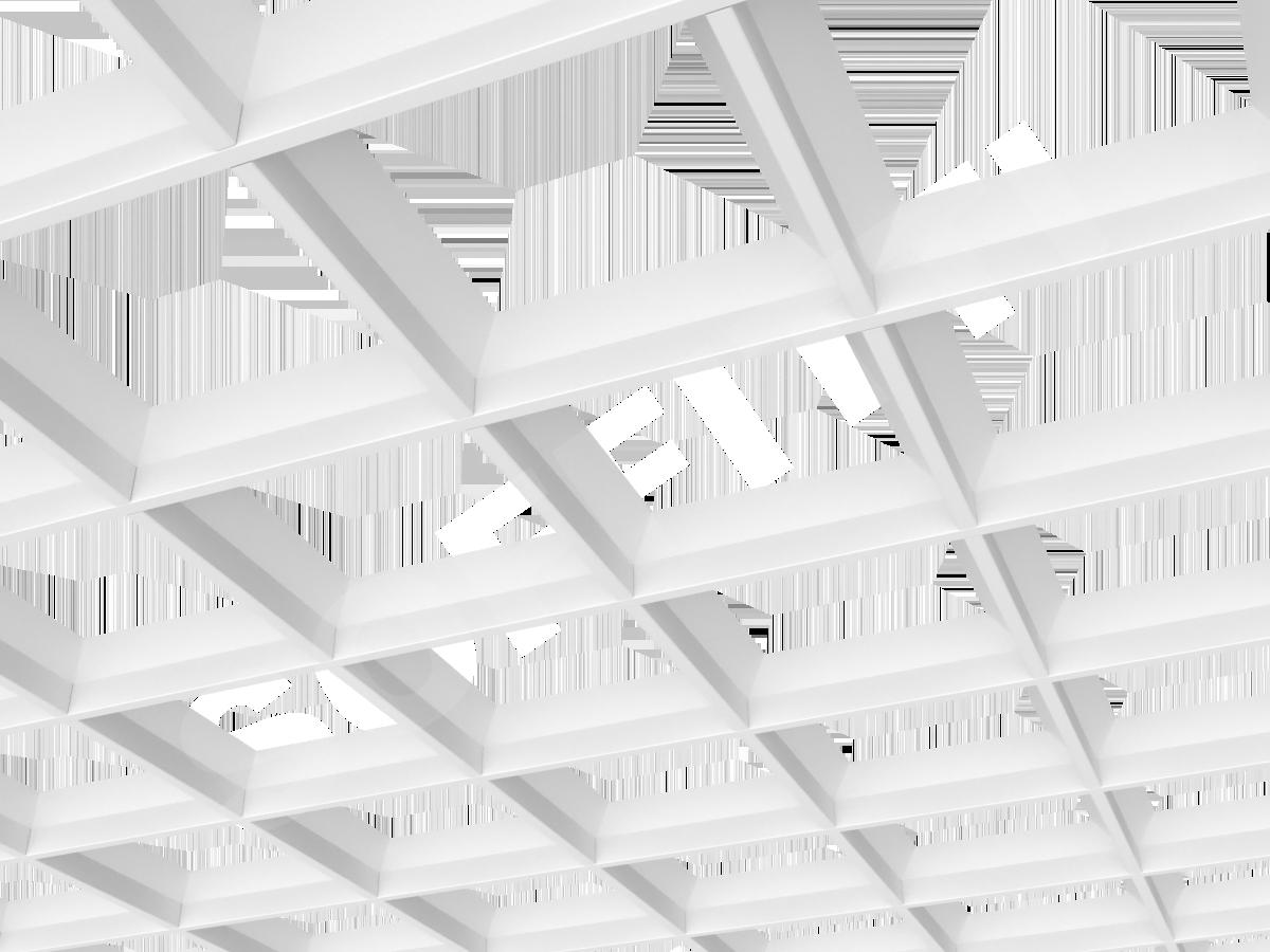 Грильято пирамидальное 200x200 мм h42,5 белый