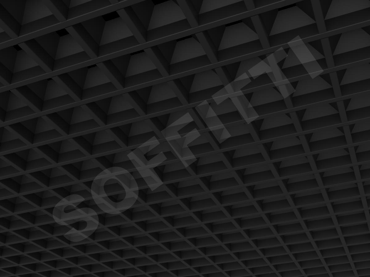 Грильято пирамидальное 75x75 мм h42,5 черный