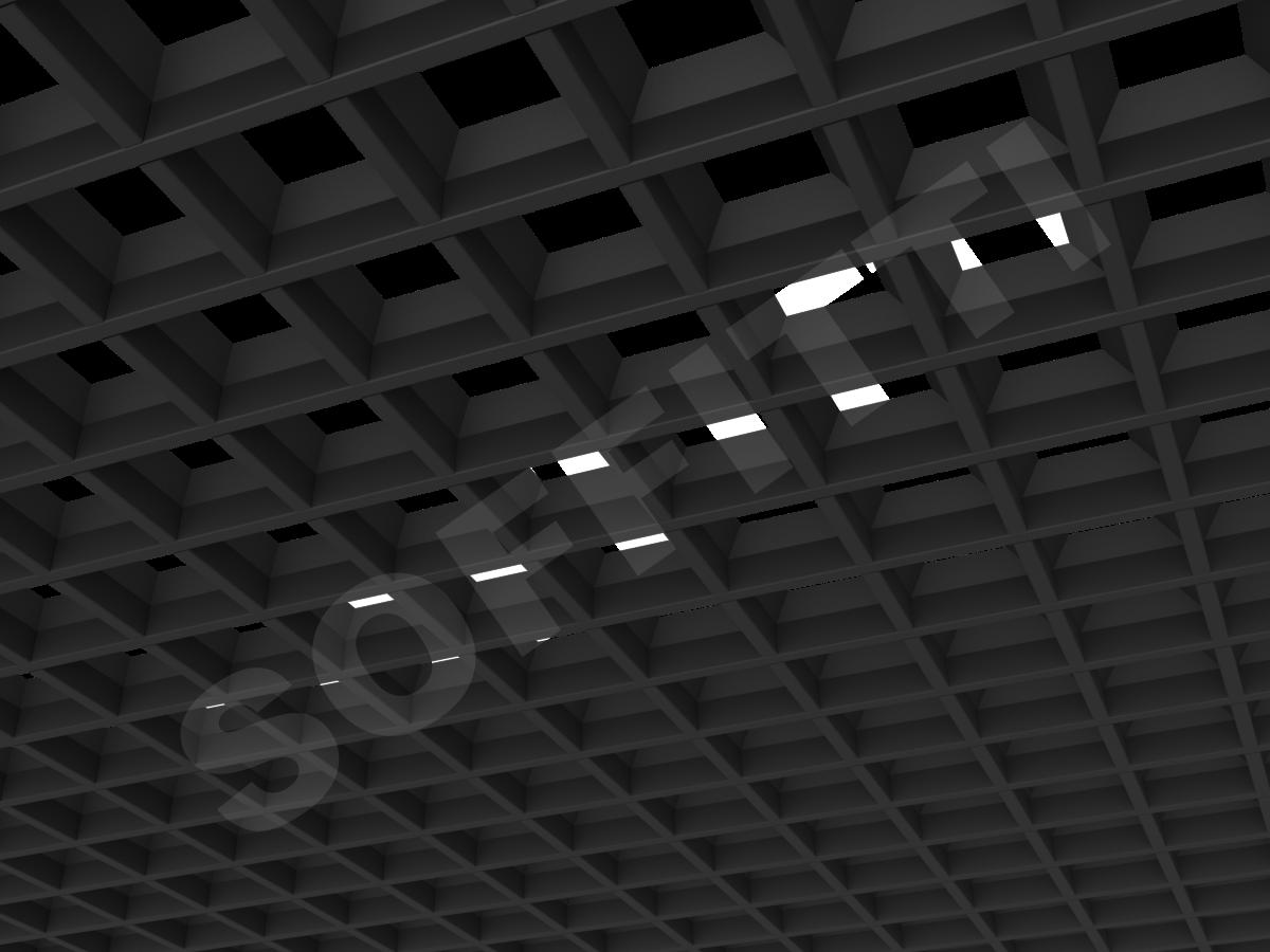 Грильято пирамидальное 86x86 мм h35 черный