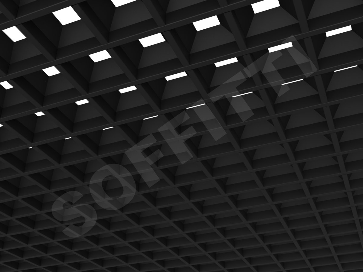 Грильято пирамидальное 86x86 мм h42,5 черный