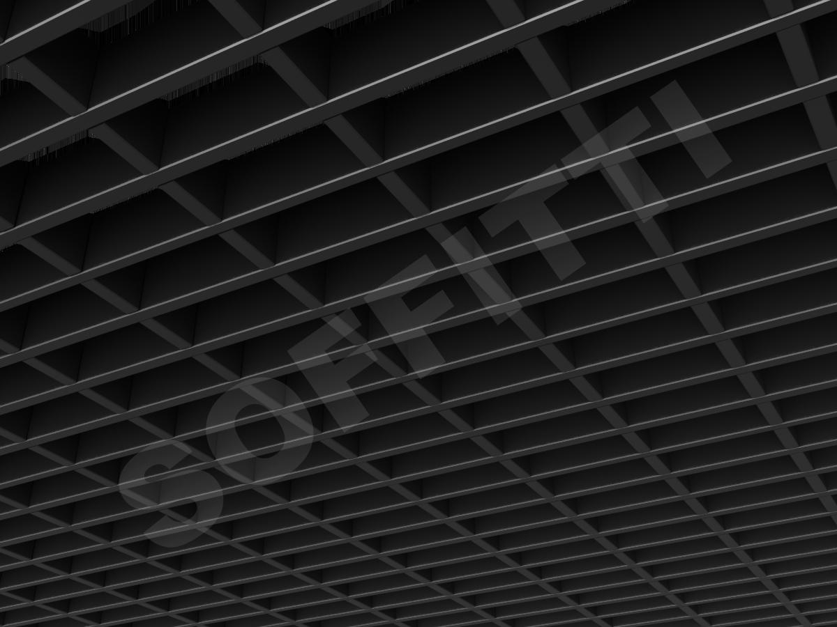 Потолок Грильято прямоугольное 100х50 мм h40 черный