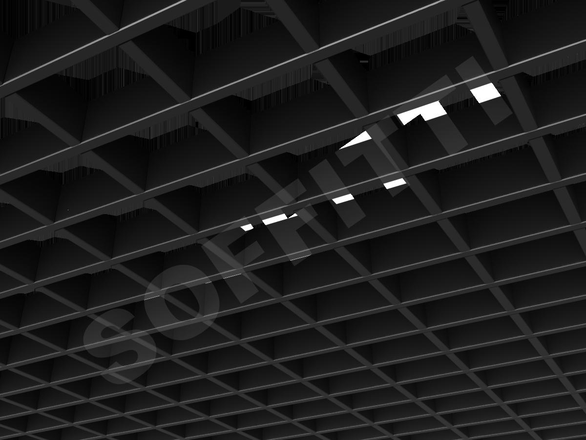 Потолок Грильято прямоугольное 100х75 мм h40 черный