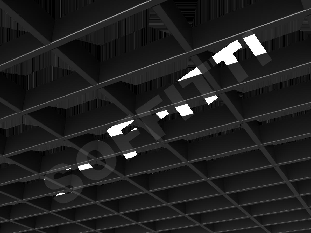 Потолок Грильято прямоугольное 150х100 мм h40 черный