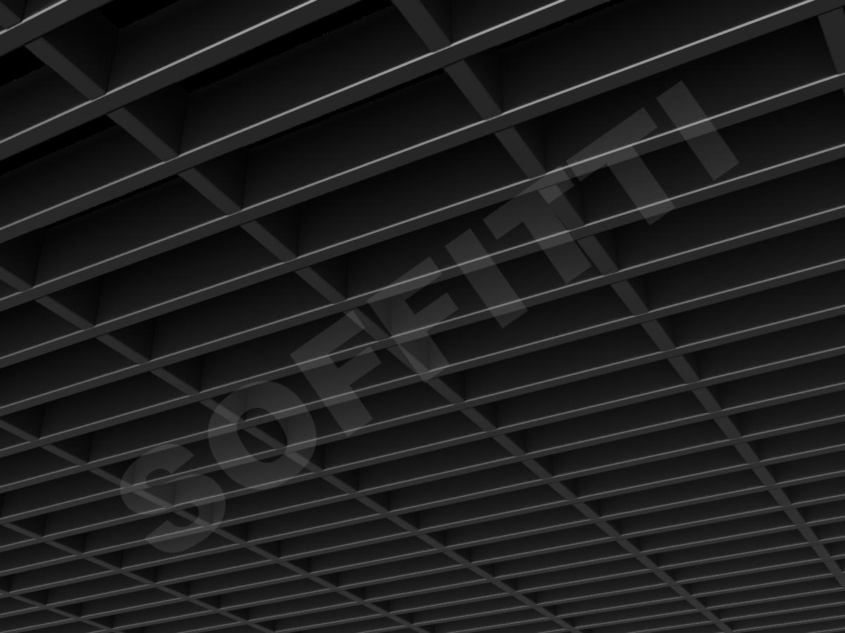 Потолок Грильято прямоугольное 150х50 мм h40 черный