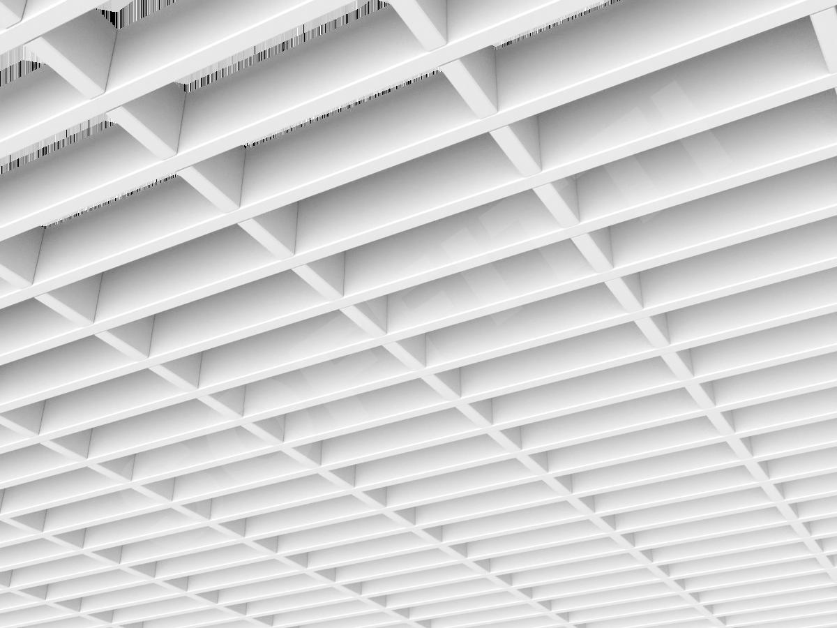 Потолок Грильято прямоугольное 150х50 мм h40 белый