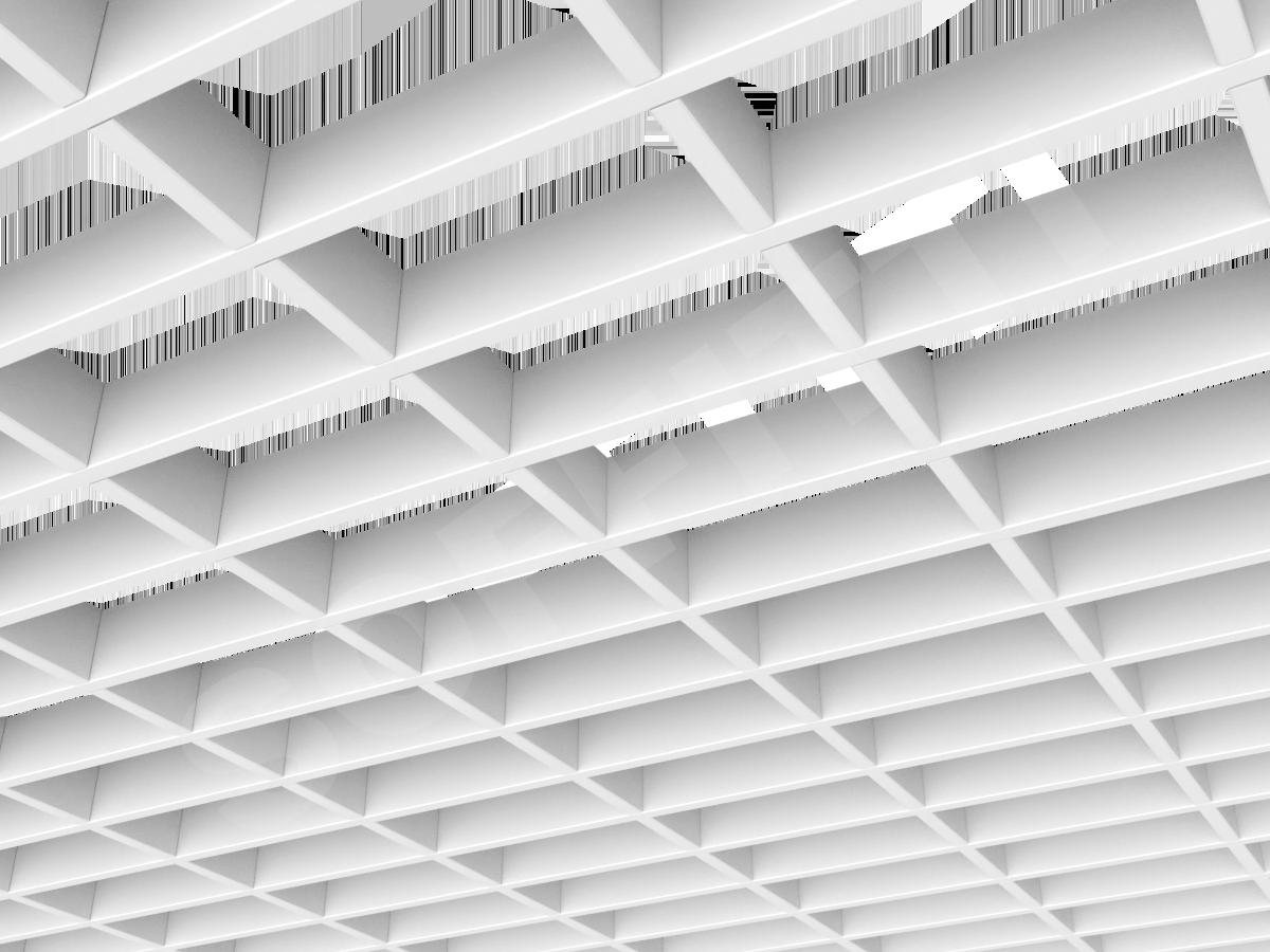 Потолок Грильято прямоугольное 150х75 мм h40 белый