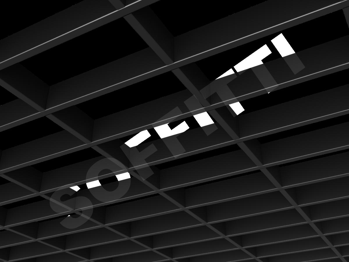 Потолок Грильято прямоугольное 200х100 мм h40 черный