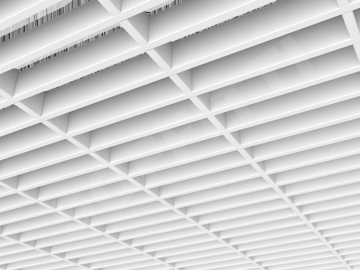 Потолок Грильято прямоугольное 200х50 мм h40 белый