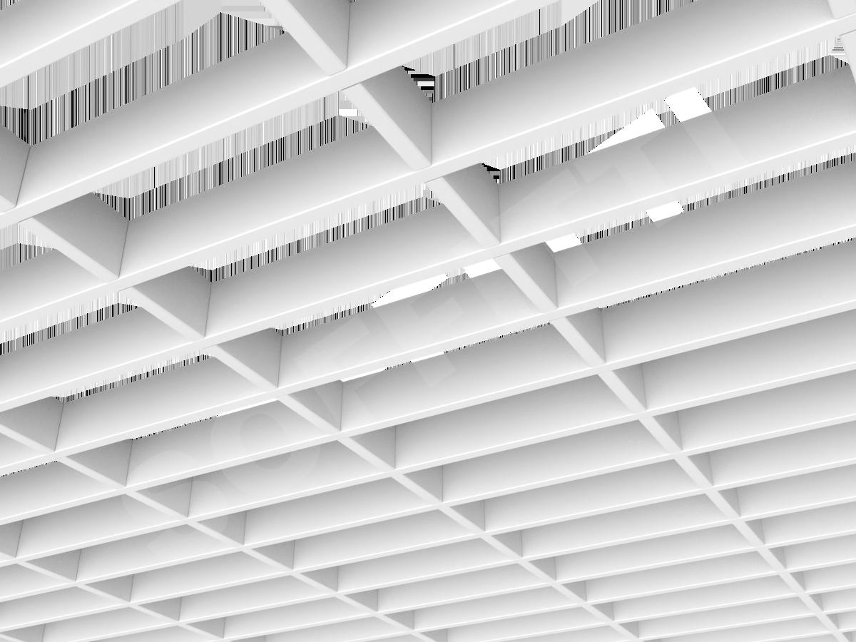 Потолок Грильято прямоугольное 200х75 мм h40 белый