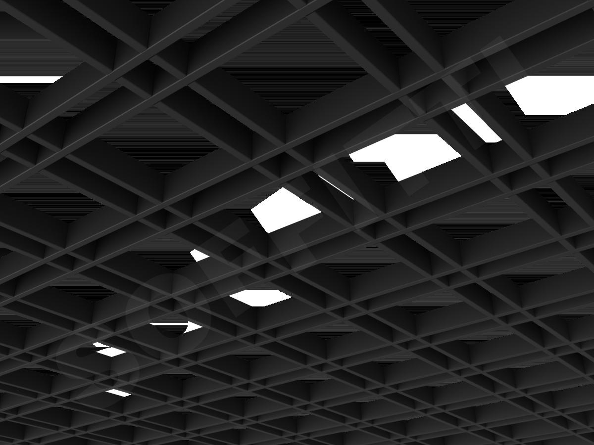 Потолок Грильято разноячеистое 150x50 мм черный