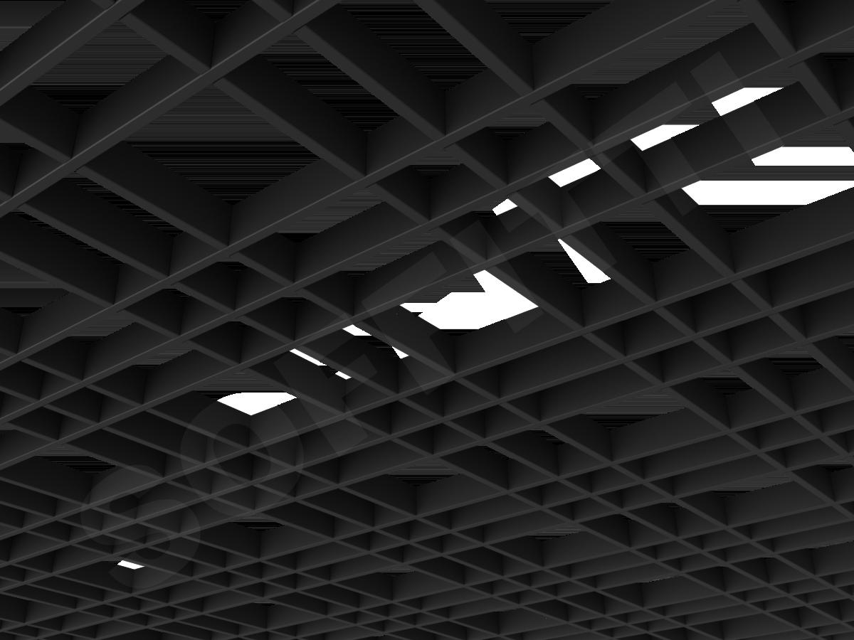 Потолок Грильято разноячеистое 150x75 мм черный