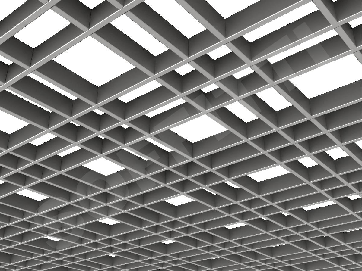 Потолок Грильято разноячеистое 150x75 мм серебристый