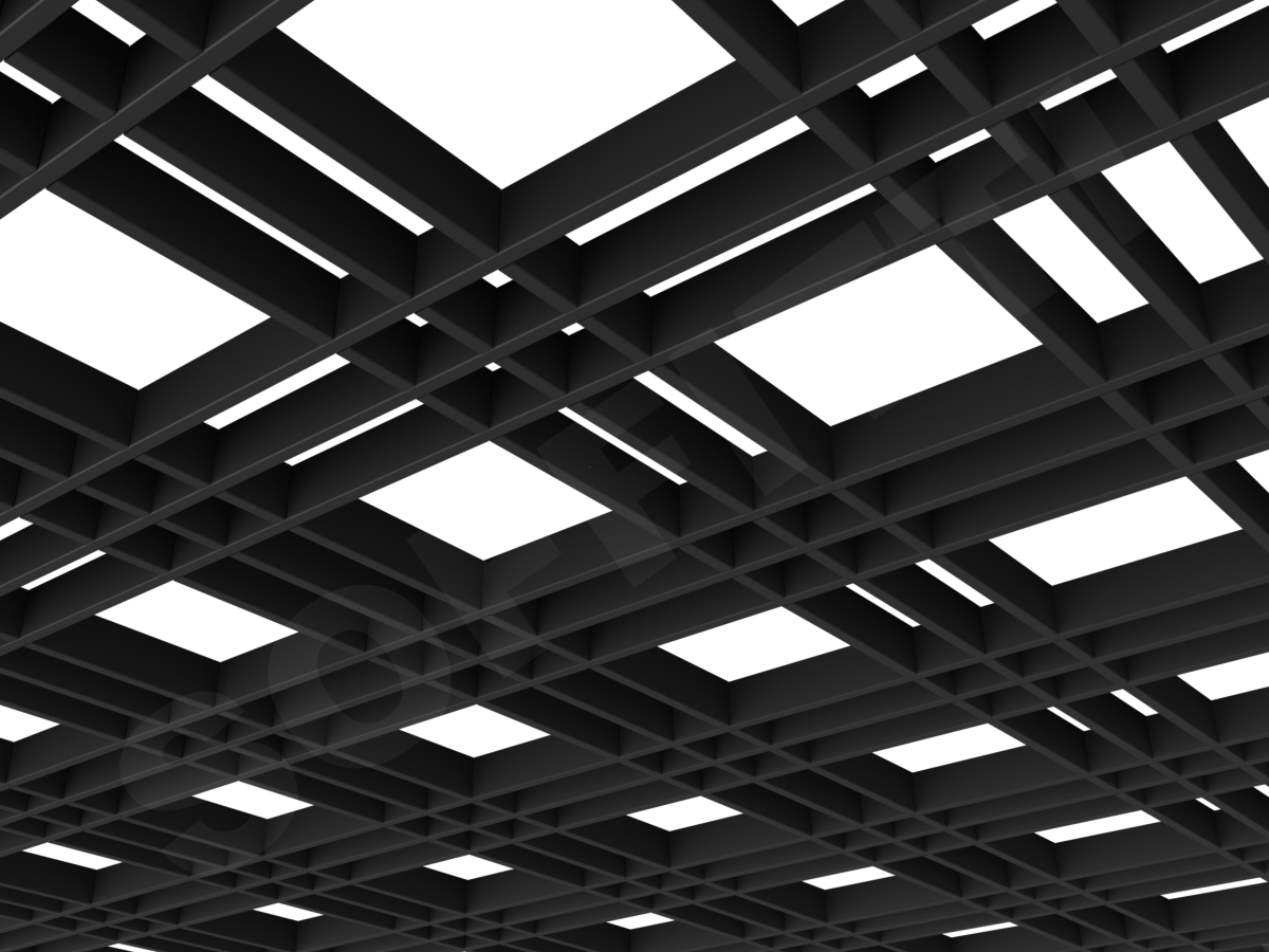 Потолок Грильято разноячеистое 180x60 мм черный