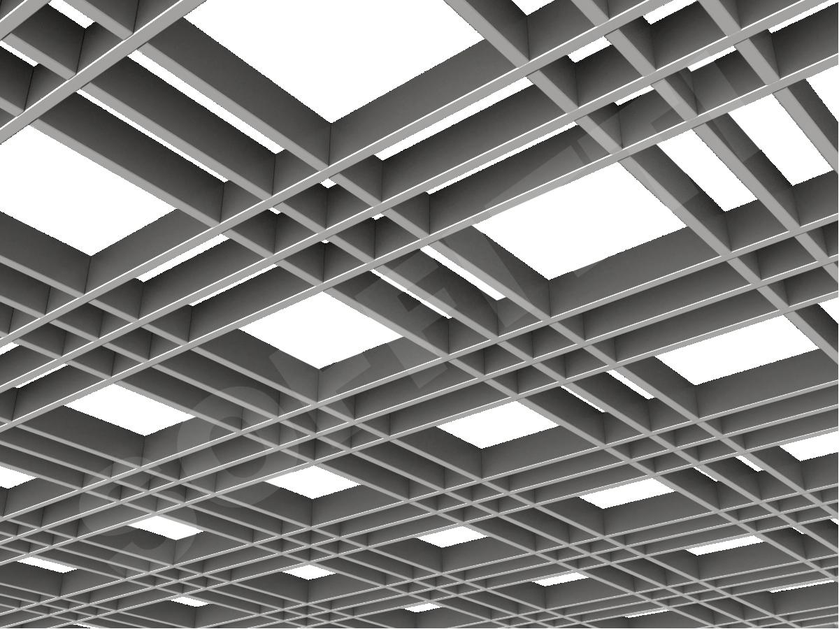 Потолок Грильято разноячеистое 180x60 мм серебристый