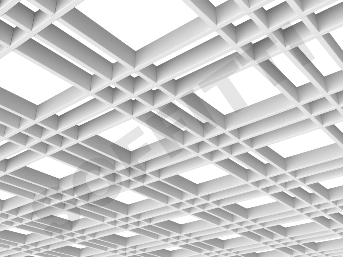 Потолок Грильято разноячеистое 180x60 мм белый
