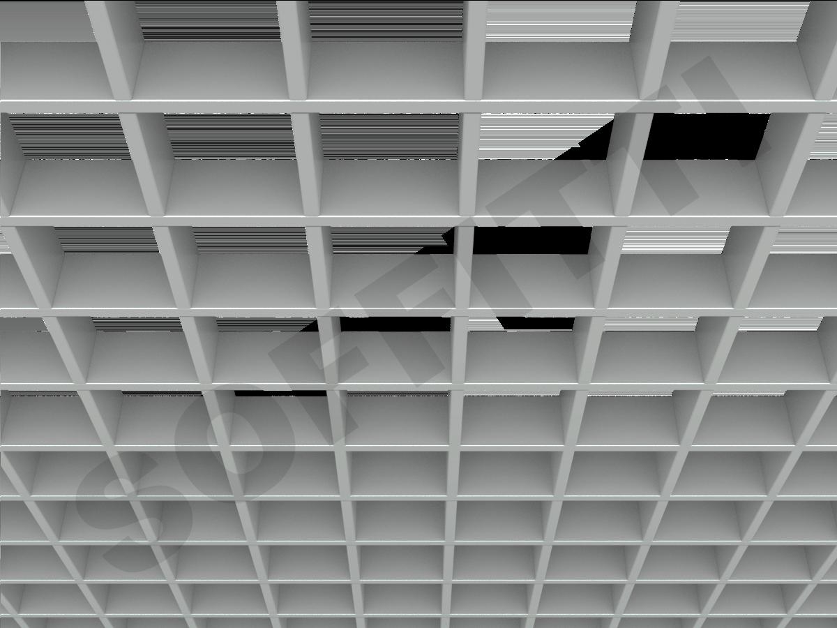 Грильято Стандарт 100х100 мм h50 серый