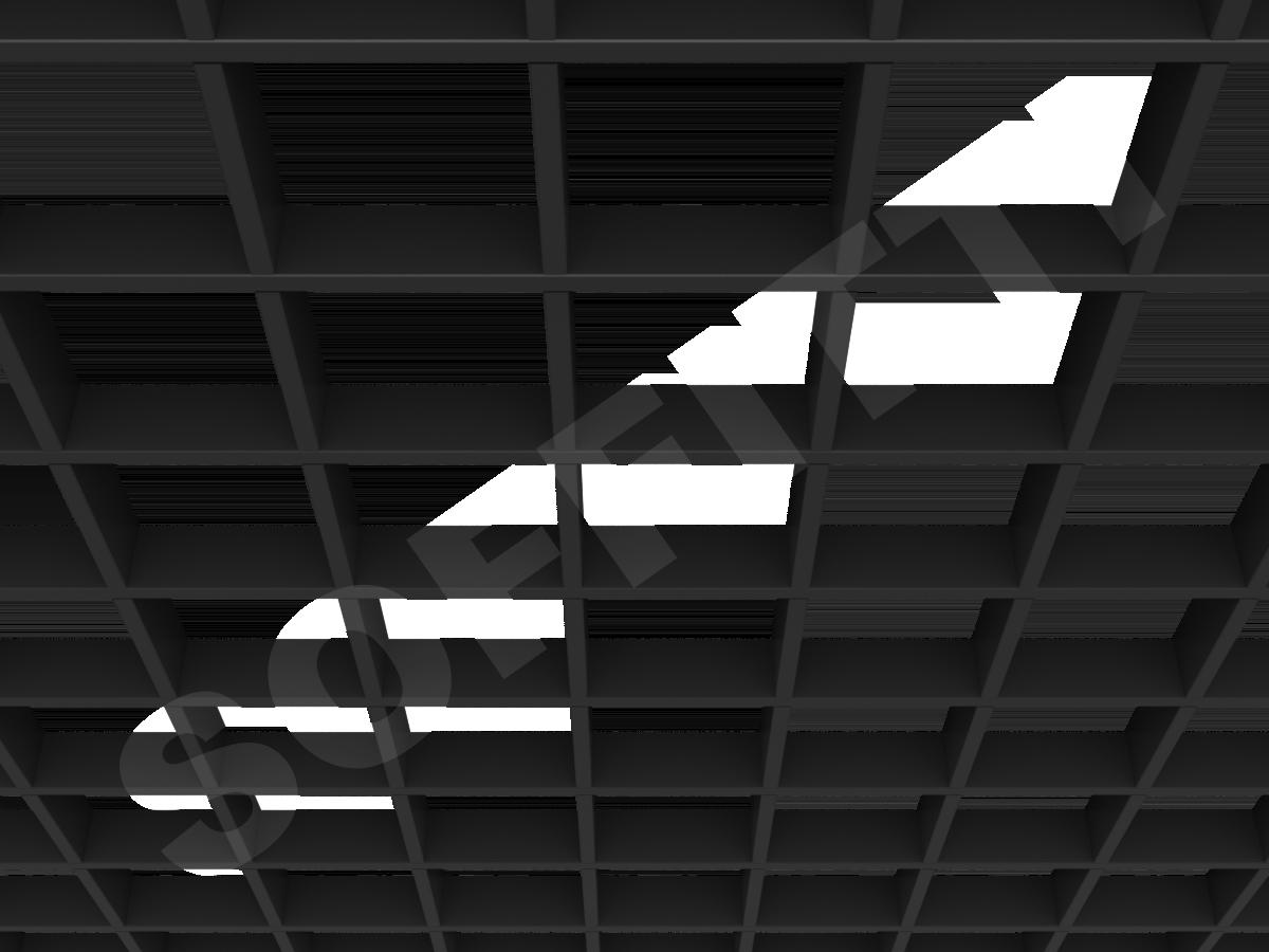 Потолок Грильято Стандарт 120х120 мм черный