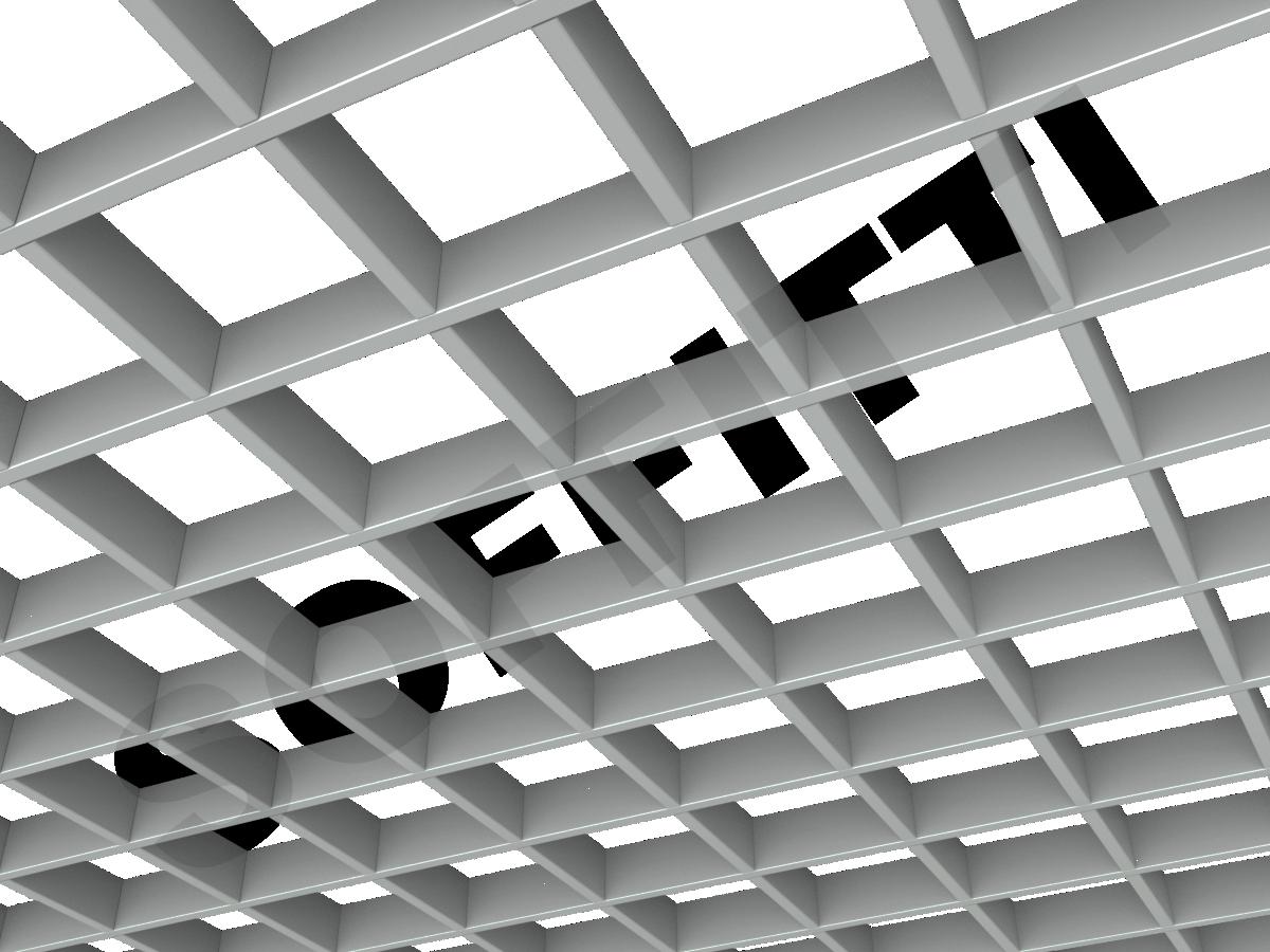 Потолок Грильято Стандарт 120х120 мм серый