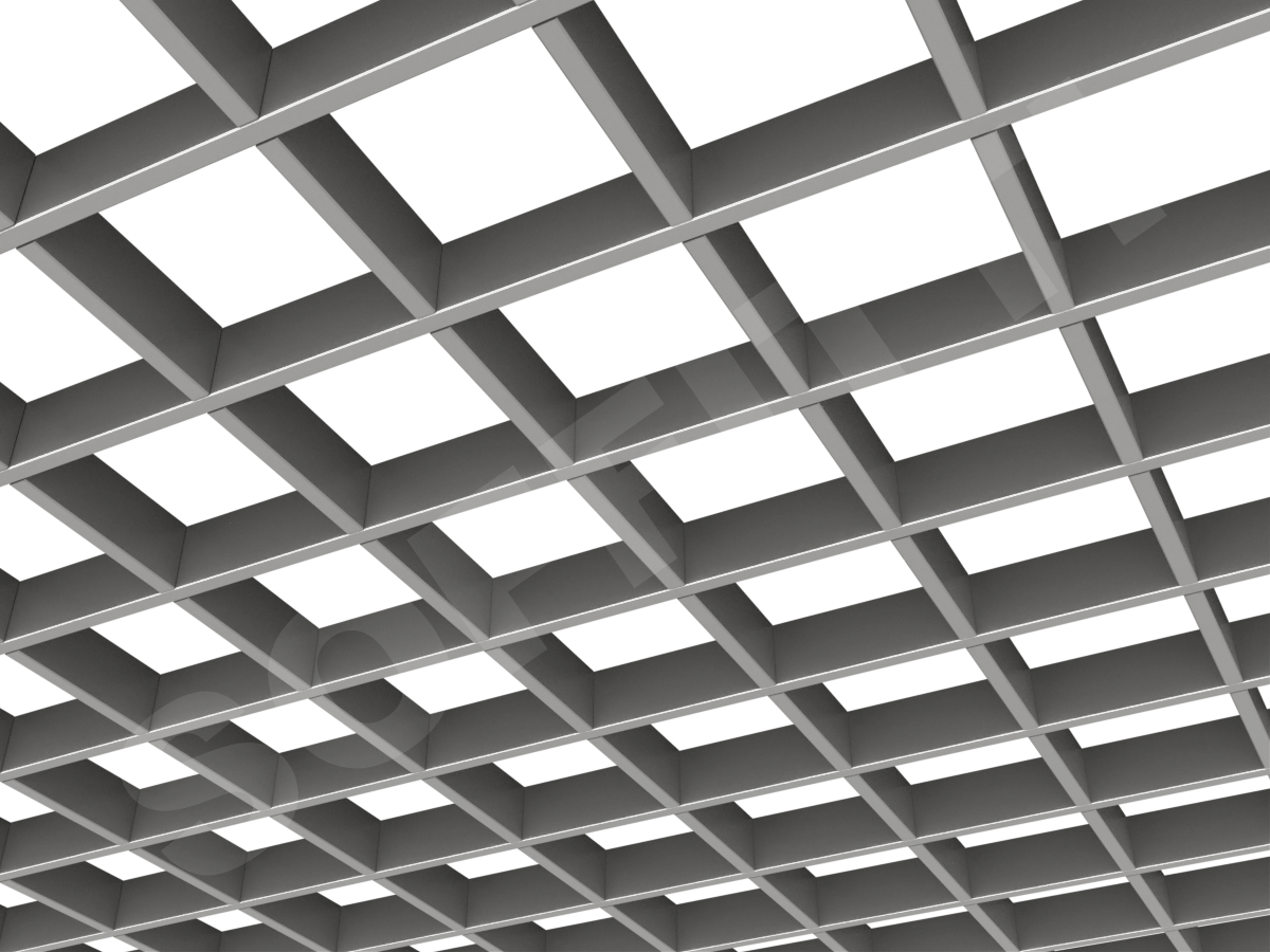 Потолок Грильято Стандарт 120х120 мм серебристый