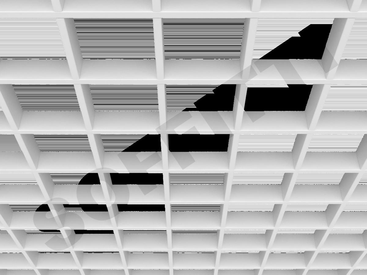 Потолок Грильято Стандарт 120х120 мм белый
