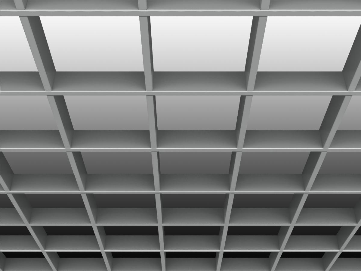 Потолок Грильято Стандарт 150х150 мм серебристый