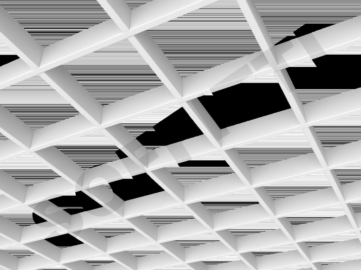 Потолок Грильято Стандарт 150х150 мм белый