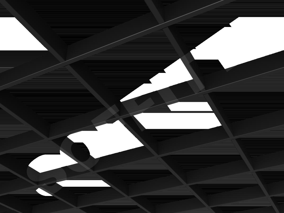 Потолок Грильято Стандарт 200х200 мм черный