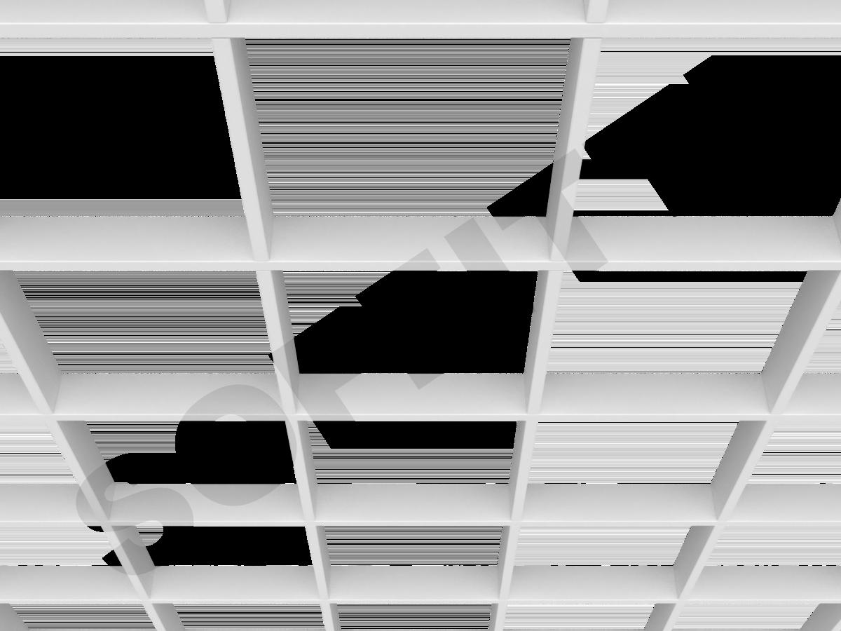 Потолок Грильято Стандарт 200х200 мм белый