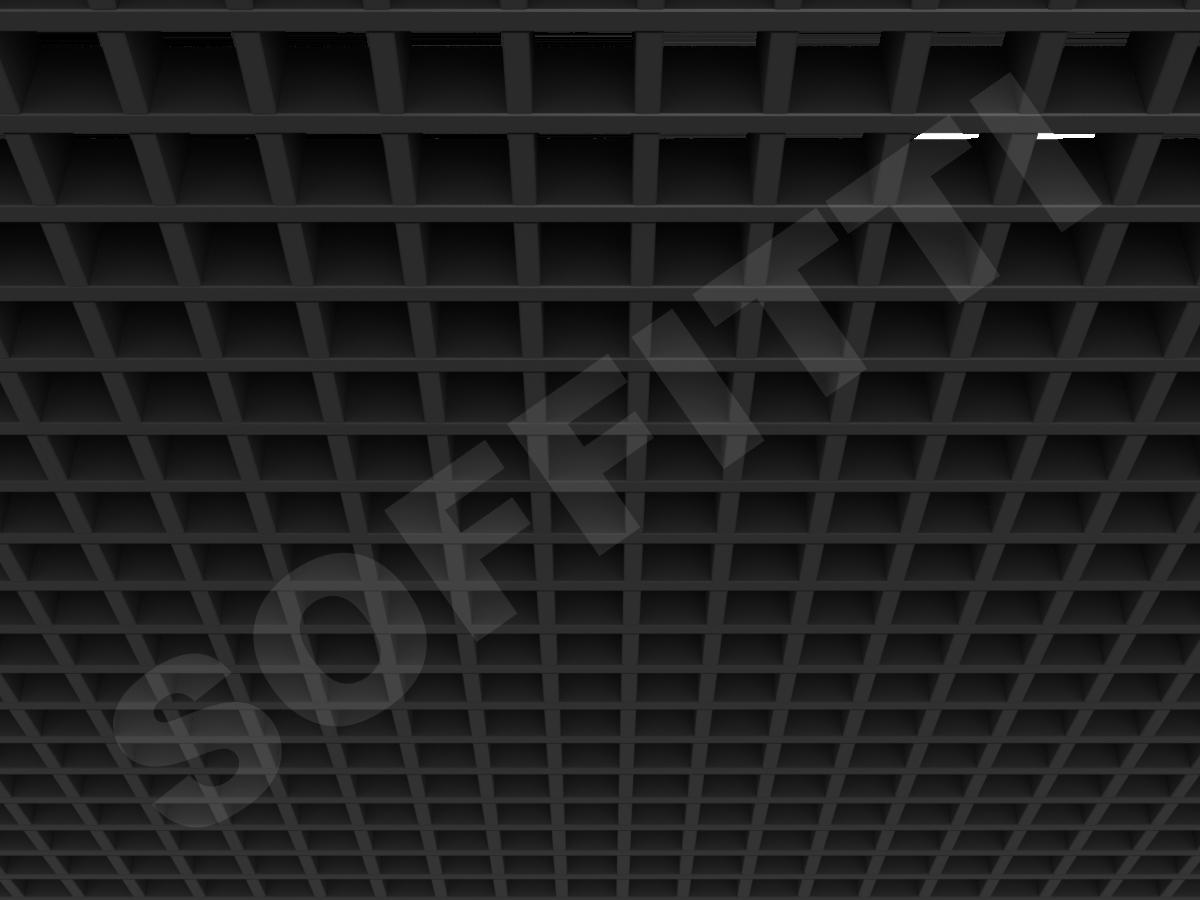 Потолок Грильято Стандарт 50х50 мм черный