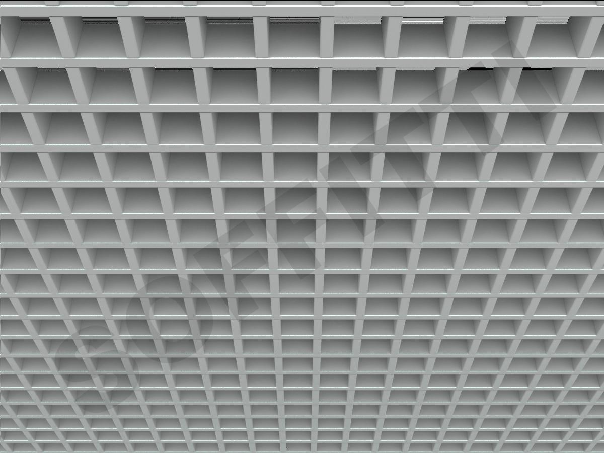 Потолок Грильято Стандарт 50х50 мм серый