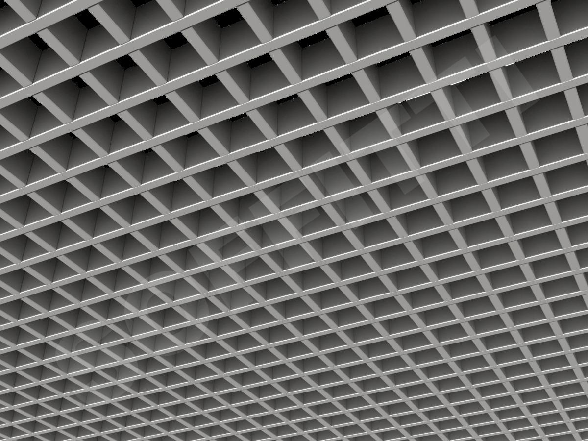 Потолок Грильято Стандарт 50х50 мм серебристый