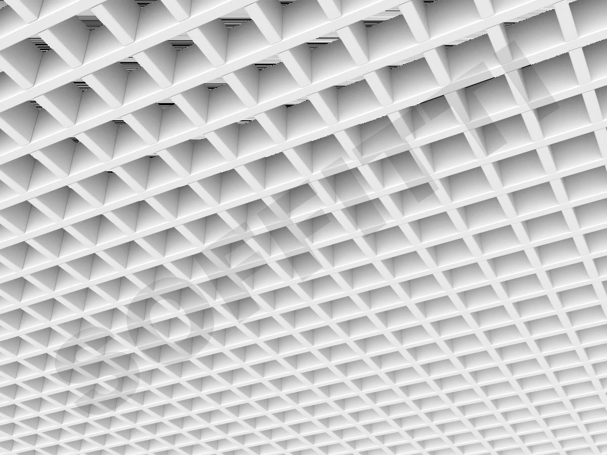 Потолок Грильято Стандарт 50х50 мм белый