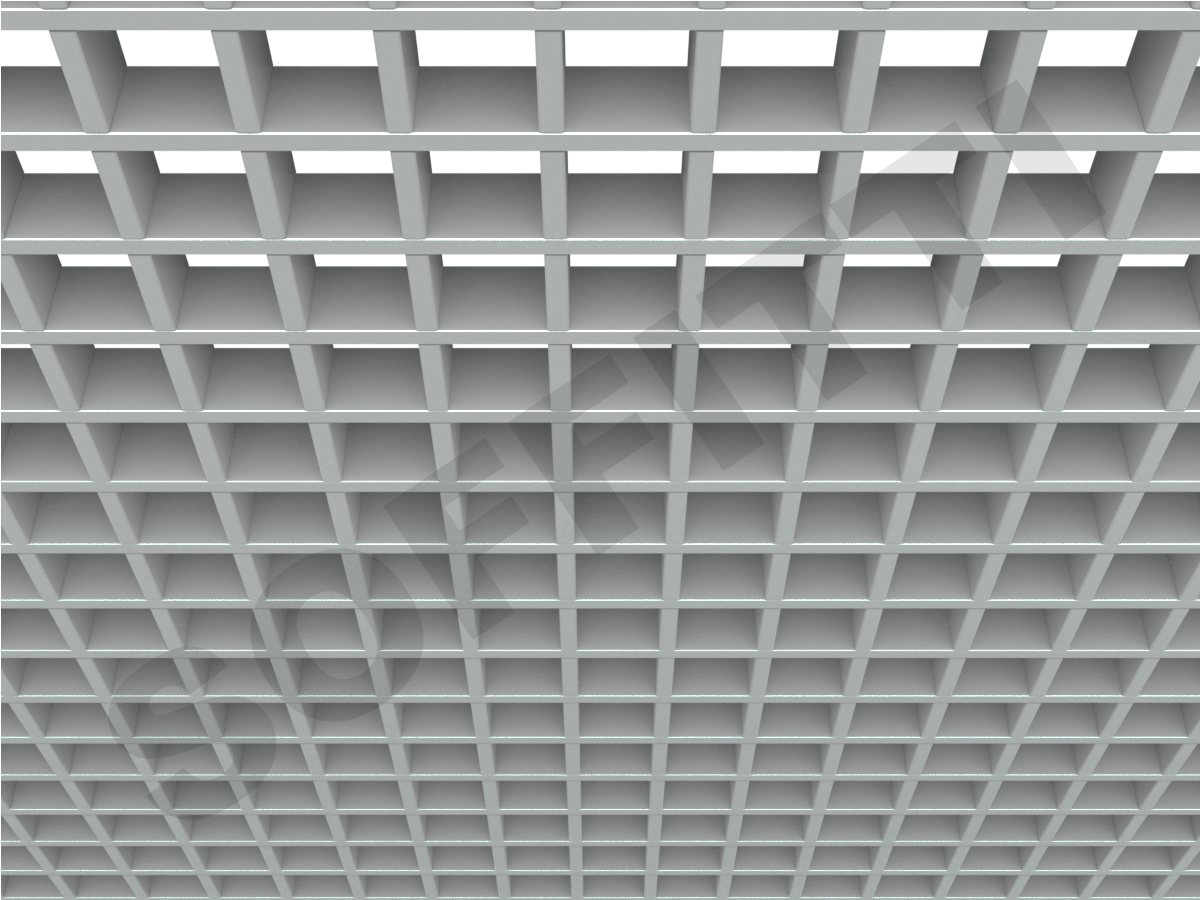 Потолок Грильято Стандарт 60х60 мм серый