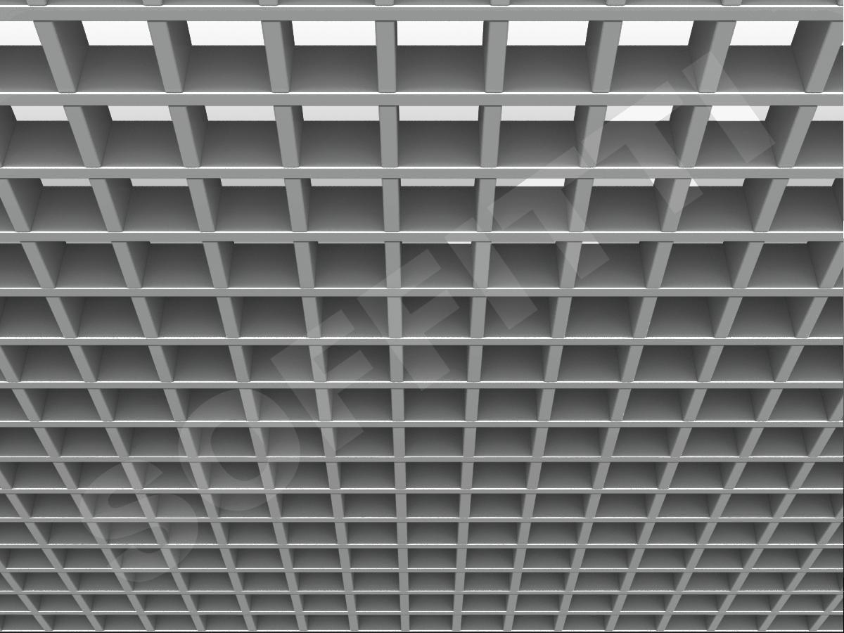 Потолок Грильято Стандарт 60х60 мм серебристый