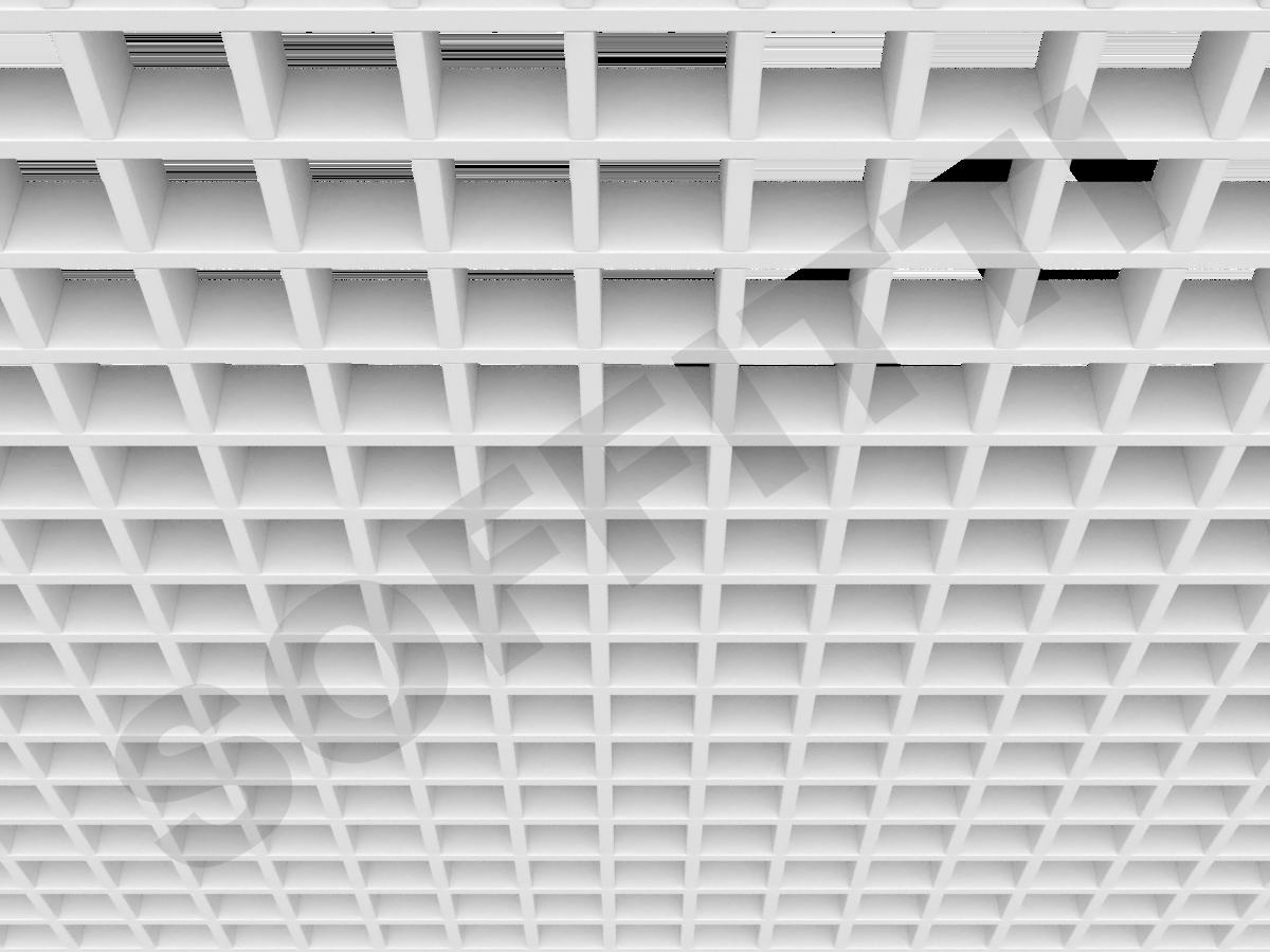 Потолок Грильято Стандарт 60х60 мм белый