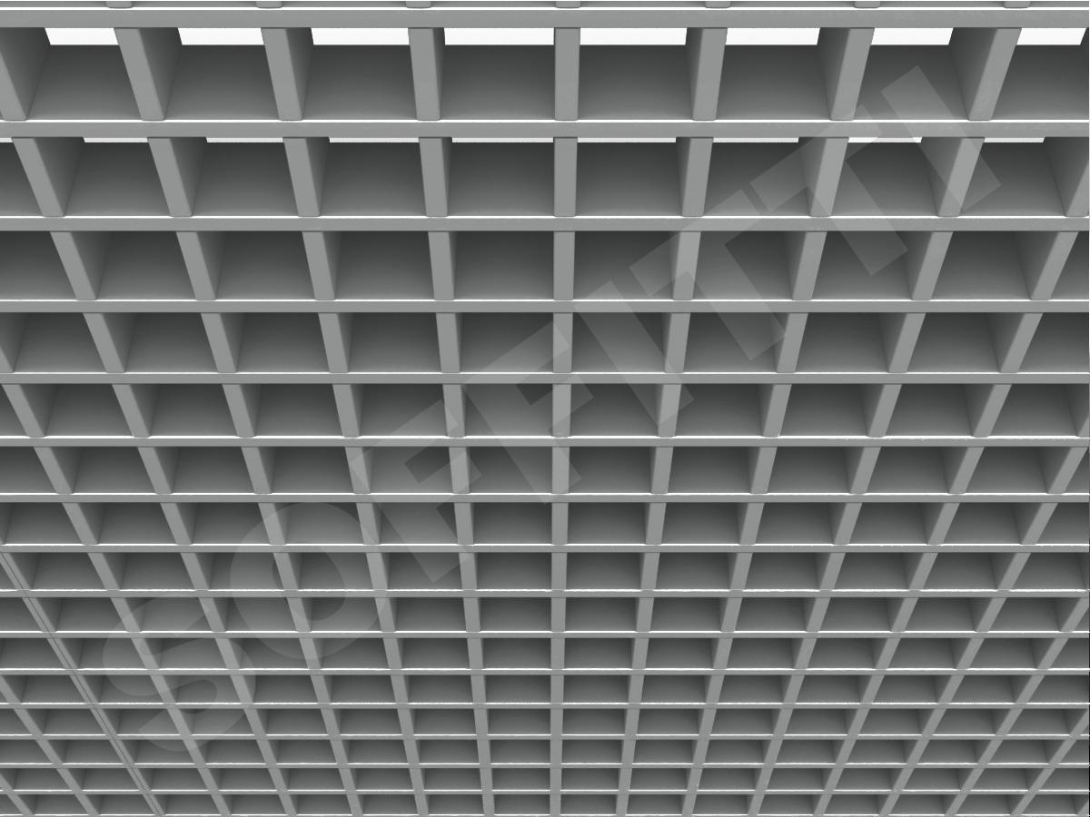Грильято Стандарт 60х60 мм h50 серебристый